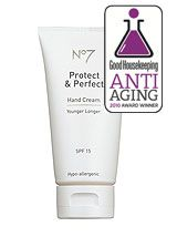 Boots No 7 Protect & Perfect....even better is there Intensive Therapy Hand Cream