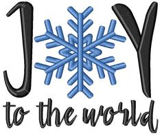 Joy To The World machine embroidery design from embroiderydesigns.com Joy To The World, Snowmen, Machine Embroidery Designs, Sewing, Dressmaking, Snowman, Machine Embroidery Patterns, Sew, Stitching