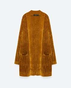 Image 8 of LONG CHENILLE JACKET from Zara