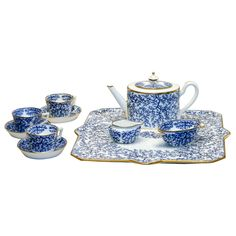 Themed Ceramic Tea Sets | 19th Century Minton Porcelain Tea Set