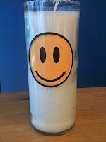 Win a Happy Face Repurposed Wine Bottle Candle!