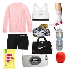 """""""Volleyball practice"""" by sierrah-2 on Polyvore featuring NIKE, Vineyard Vines, Mizuno, Victoria's Secret, Eos and Lipsy"""