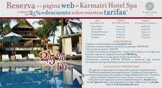 Promoción mes de Julio y Agosto en Karmairi Hotel Spa Cartagena.