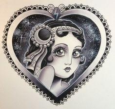 Skarsgard Tattoo — Sky night heart - girl