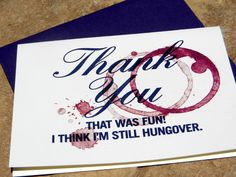 Wine Thank You Cards- keeping it classy