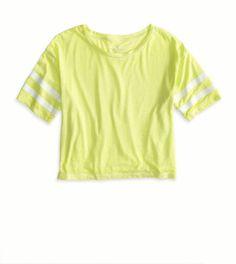 Kiwi Blast AE Varsity Cropped T-Shirt