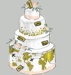 Доброго субботнего утра, всем Вам! Вчера мы сделали торт для свадьбы путешественников. Ну а вот так он задумывался. В процессе работы он стал немного меньше, но в целом идея почти полностью было воплощена! #свадьбавростове #скоросвадьба #свадьба2017 #свадебныйторт #wedding #weddingcakes http://gelinshop.com/ipost/1518653563218266525/?code=BUTV16cgYmd
