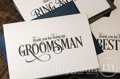 Marrygrams makes beautiful wedding paper products! Thank You For Being My Groomsman Card Enchanting Style #marrygrams