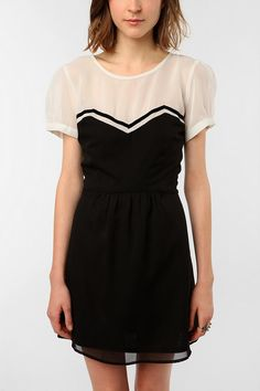 UrbanOutfitters.com > Coincidence & Chance Short-Sleeved Chiffon Dress    Kinda want this to wear with black hose...
