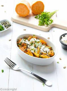 Roasted Sweet Potatoes With Feta Cheese Recipe
