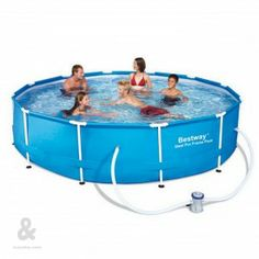 Piscina desmontable Bestway Steel Pro redonda. Disponible en diferentes dimensiones.
