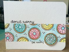 """Inspired by Julia Altermann """"Donut worry"""" stamps and die by Lawn Fawn, colored with ZIG Clean Color Real Brush Markers"""