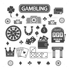 Gambling Silhouette Icons Set by OlhaKostiuk Gambling silhouette icons set. Casino concept collection Silhouette Icons Set by OlhaKostiuk Gambling silhouette icons set. Casino Royale, Southampton, Tattoo Filler, Vegas Tattoo, Cute Tiny Tattoos, Recipe From Scratch, Hippie Art, Game Assets, Casino Theme