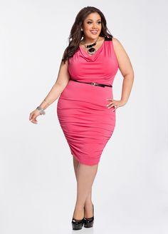 b5f9b872d36 Ashley Stewart  Ruched Accent Plus Size Dress Ashley Stewart Dresses