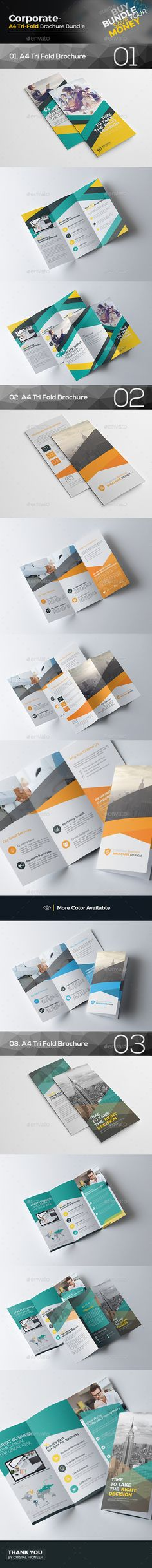 Tri Fold Brochure Design Bundle 3 In 1 Corporate Brochure Template