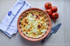 Tartă de roșii cu iaurt grecesc Quiche, Breakfast, Food, Greece, Breakfast Cafe, Essen, Quiches, Yemek, Custard Tart