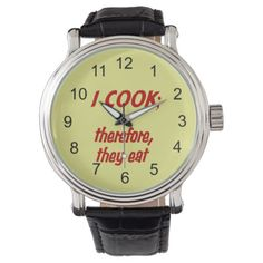 Chef's Philosophy - Red and Yellow Wristwatch