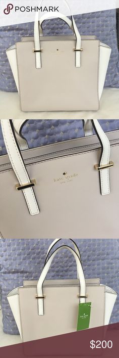 """Kate Spade small satchel Brand new Kate Spade small satchel, comes with a long shoulder strap. In creme/nude and ivory. H 8.8"""" bottom width 9.5"""" widest part on top 12"""" kate spade Bags Satchels"""