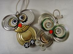 Dosenfiguren - Home Aluminum Can Crafts, Tin Can Crafts, Owl Crafts, Metal Crafts, Diy And Crafts, Crafts For Kids, Arts And Crafts, Recycled Metal Art, Scrap Metal Art
