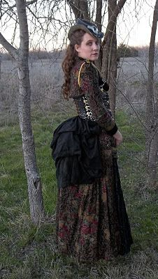Steampunk dress made from thrift store finds