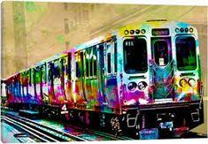 Image result for train pop art