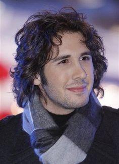 Josh Groban in gray scarf