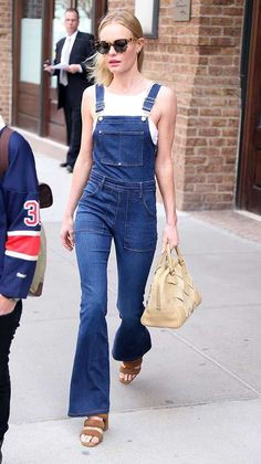 Celebrities wearing dungarees street style fashion | Fashion, Trends, Beauty Tips & Celebrity Style Magazine | ELLE UK