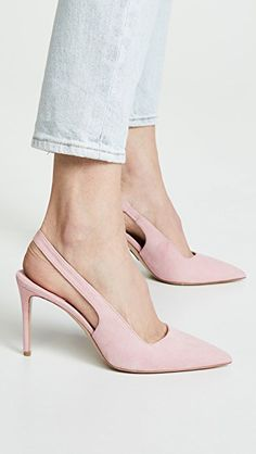 Coquette 85 Slingbacks | #slingbacks | #heels | Mens Fashion Shoes, Fashion Heels, Women's Fashion, Fashion Trends, Ankle Strap Heels, Ankle Straps, Chanel, Prom Heels, Clearance Shoes