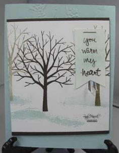 January 05, 2015 UdderlyAwesome Stamping From The Heart: Sheltering Tree Cards: a Set for all Seasons! Soft Sky, Early Espresso, Soft Suede, Crumb Cake, Northern Flurry TIEF