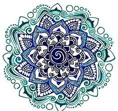 Beautiful ornate blue mandala.