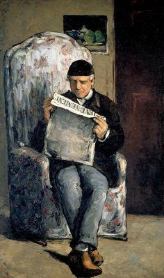 Paul Cézanne  Portrait of the Artist's Father, c. 1866