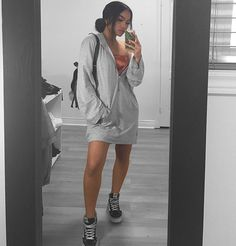 """12.8k Likes, 39 Comments - @melissacalma on Instagram: """"""""you touch my mind"""" tunic in heather grey from @fashionnova ❤ use my code """"XOMELXO"""" for a discount…"""""""