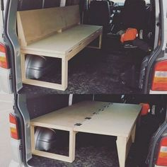 23 Cold DIY Camper Van Collections For Summer Inspiration Better Than You Know - Camping Minivan Camper Conversion, Cargo Trailer Conversion, Kangoo Camper, Truck Bed Camping, Minivan Camping, Van Bed, Camper Beds, Kombi Home, Van Home