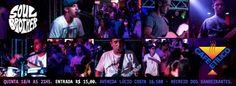 no palco do Café Etílico no Recreio dos Bandeirantes, em frente a praia, a banda Soul Brother fará um show em grande estilo!