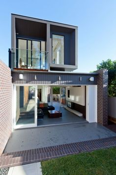 Open living and feature brickwork
