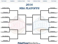 Printable NBA Playoff Bracket - 2016 NBA Playoff Matchups