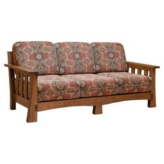 This elegant Amish Mission Sofa is skillfully constructed by highly experienced Amish Craftsmen and it is built from hand selected solid Quarter Sawn White Oak...