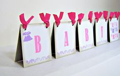 Baby shower centerpiece tent girl pink and by suzyssentiments. , via Etsy.