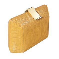 Clutch in pelle effetto tweed con chiusura in metallo (P/E 2012) - http://www.glamour.it/look/look-500-dress-code#
