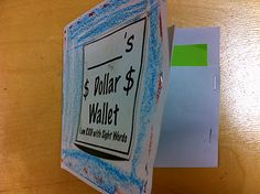sight word wallet