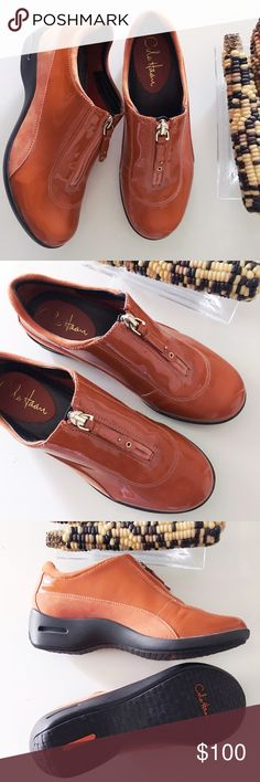 Cole Haan rain shoes Rare find! Unique color! Cole Haan waterproof patent leather upper✔️waterproof construction✔️Zip pull front✔️rubber wedge with traction✔️1.25 inch wedge heel✔️size 6.5. I wore these once👍🏼in excellent condition! Make an offer 💛no trades thank you Cole Haan Shoes