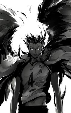 DAMN Bokuto looks badass in this!!! His eyes...  /// haikyuu bokuto fukurodani volleyball anime