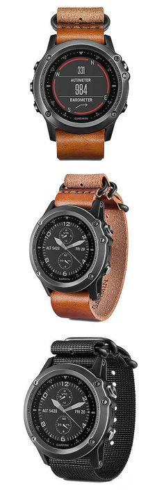 GPS and Running Watches 75230: Garmin Fenix 3 Multisport Gps Watch Sapphire Grey With Leather And Nylon Strap -> BUY IT NOW ONLY: $574.99 on eBay!