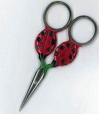 Ciseaux Ladybug Silver