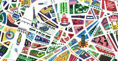 Carte de Paris en couleurs - Antoine Corbineau