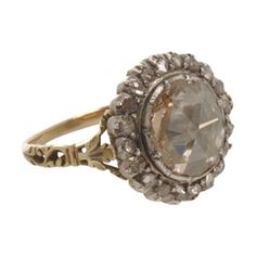 Olivia Collings Antique Jewelry Large Center Cluster Diamond Ring at Barneys.com