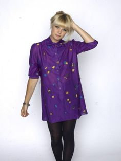 $45  New Wave Party Down Dress #vintage