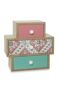 Primark - Set Of 3 Drawers Primark Homeware, Set Of Drawers, Shabby Chic Style, Elle Decor, Decoration, Home Accessories, Home Improvement, Decorative Boxes, Bedroom Decor