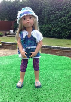 GOTZ HANNAH  DESIGNA FRIEND AMERICAN GIRL DOLL MULTI-COLOURED PLAYSUIT.