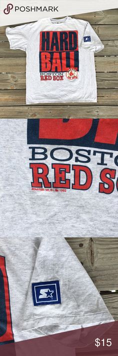 Vintage 1992 STARTER Boston Red Sox tee Vintage  STARTER 1992 Boston Red Sox HARD BALL tee. Size XL with no flaws really. Big STARTER patch on sleeve. Vintage Shirts Tees - Short Sleeve